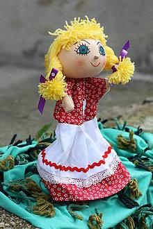 Hračky - Maňuška. Bábika dievčatko Majdalenka - 8992922_