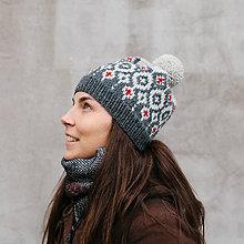 Čiapky - čiapka s nórskym vzorom - 8994459_