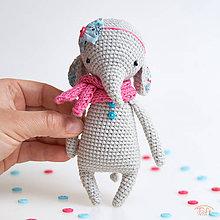 """Hračky - -25% slonie dievčatko """"Angela"""" - 8994201_"""