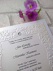 Papiernictvo - svadobné oznámenie 708 - 8993346_