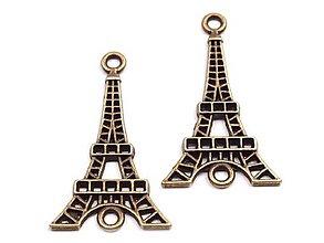 Komponenty - Kovový prívesok Eiffelová veža - 8993625_