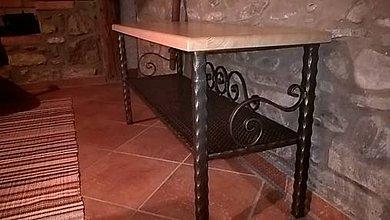 Nábytok - Kovová kovaná štýlová lavica MARTINA - 8992364_