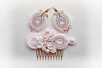 Sady šperkov - Svadobná soutache sada (Zlatá) - 8993162_