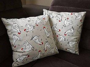 Úžitkový textil - Návliečky so sliepočkami - 8992314_