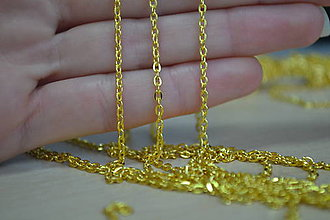 Komponenty - Retiazka zlatá 3x2mm,  0.75€/meter - 8992416_