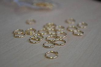 Komponenty - Spájací krúžok pozlátený 24k 8mm, 0.70€/ks - 8992452_
