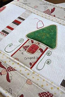 Úžitkový textil - Vianočná štóla...aplikácie - 8994926_
