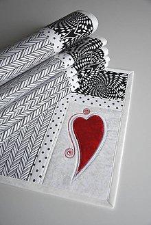 Úžitkový textil - Čierna a biela No.1 - 8995607_