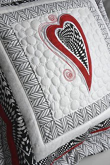 Úžitkový textil - Čierna a biela No. 1 - vankúš - 8995664_