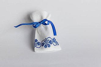 Úžitkový textil - Darčekové vrecúško folk I - 8994744_