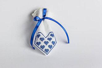 Úžitkový textil - Darčekové vrecúško folk II - 8994768_