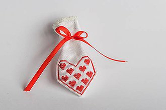 Úžitkový textil - Darčekové vrecúško z lásky I - 8994896_