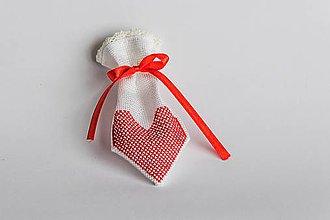 Úžitkový textil - Darčekové vrecúško z lásky III - 8994907_