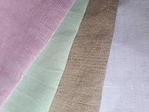 Úžitkový textil - Biele ľanové závesy - 8994968_