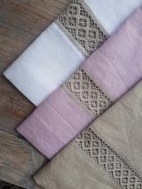 Úžitkový textil - Biele ľanové závesy - 8994970_