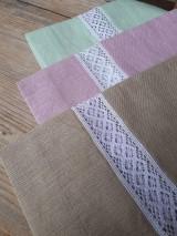 Úžitkový textil - Biele ľanové závesy - 8994972_