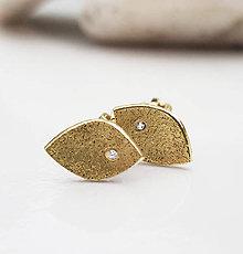 Náušnice - Fosils (gold) - 8997867_