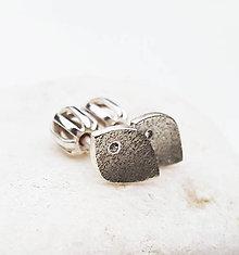 Náušnice - Fosils (silver) - 8998390_