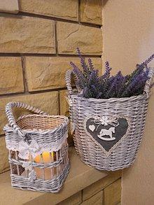 Košíky - Košík na kvety. - 8999508_