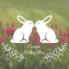 Dekorácie - Zajačiky (nálepka nie len na okno) - 8999189_