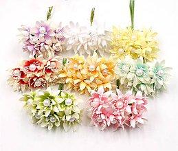 Polotovary - 12. Textilné chryzantémy 1ks - 8999416_