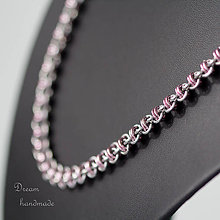 Náhrdelníky - Harmony - náhrdelník (Ružová) - 8998751_