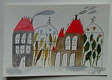 - Skleník pohľadnica ilustrácia / originál maľba  - 8998311_