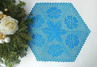 Úžitkový textil - Háčkovaná dečka modrá. - 8998139_