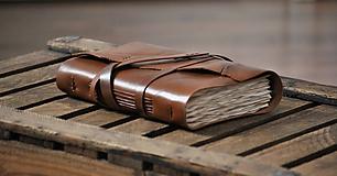 Papiernictvo - archaický kožený zápisník BASILIUS - 8999168_