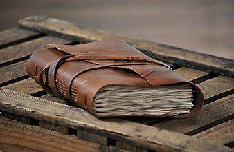 Papiernictvo - archaický kožený zápisník BASILIUS - 8999167_