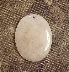 Minerály - ruženín kabošon 4,6x3,6cm - 8998264_