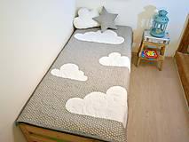 Úžitkový textil - Urban Sky - obláčikový prehoz (Šedá) - 8999092_