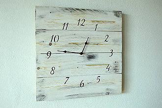 Hodiny - Drevené hodiny Sneh - 8999330_