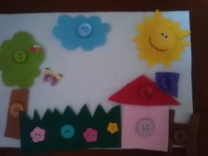 Hračky - Učíme sa zapínať gombíky - na dedine-strana pre detičky - 8995922_