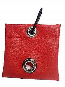 Pre zvieratká - Zásobník na WC vrecká červená koženka - 8997087_