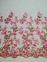 Textil - Vysívaný tyl s 3D efektom - 8997392_