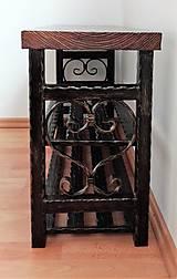 Nábytok - Kovaný botník, Regál na topánky, Lavica, Kovový botník - 8995860_