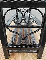 Nábytok - Kovaný botník, Regál na topánky, Lavica, Kovový botník - 8995863_