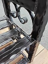 Nábytok - Kovaný botník, Regál na topánky, Lavica, Kovový botník - 8995867_