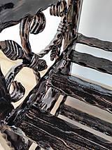Nábytok - Kovaný botník, Regál na topánky, Kovový botník, Lavica - 8995895_