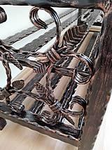 Nábytok - Kovaný botník, Regál na topánky, Kovový botník, Lavica - 8995896_