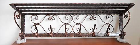 Nábytok - Kovaná súprava - botník s vešiakom - 8995907_