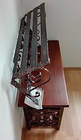 Nábytok - Kovaná súprava - botník s vešiakom - 8995910_