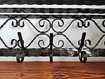 Nábytok - Kovaná súprava - botník s vešiakom - 8995911_