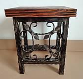 Nábytok - Kovaná stolička, stolček - 8995928_
