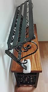 Nábytok - Kovaný vešiak s policou - 8996002_