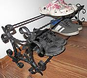 Nábytok - Kovaný botník, Regál na topánky - 8996349_