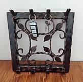 Nábytok - Kovový vešiak na kľúče - 8999522_