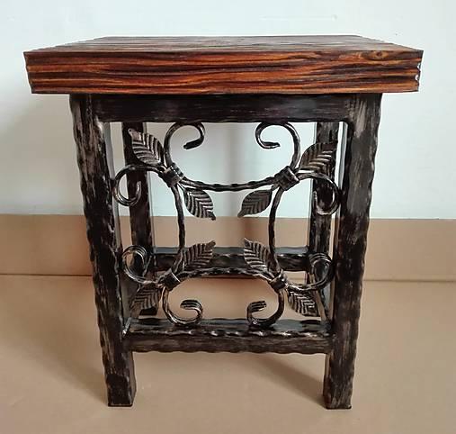 Kovaná stolička, stolček