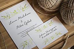 Papiernictvo - Svadobné oznámenie - zeleň - 8996467_